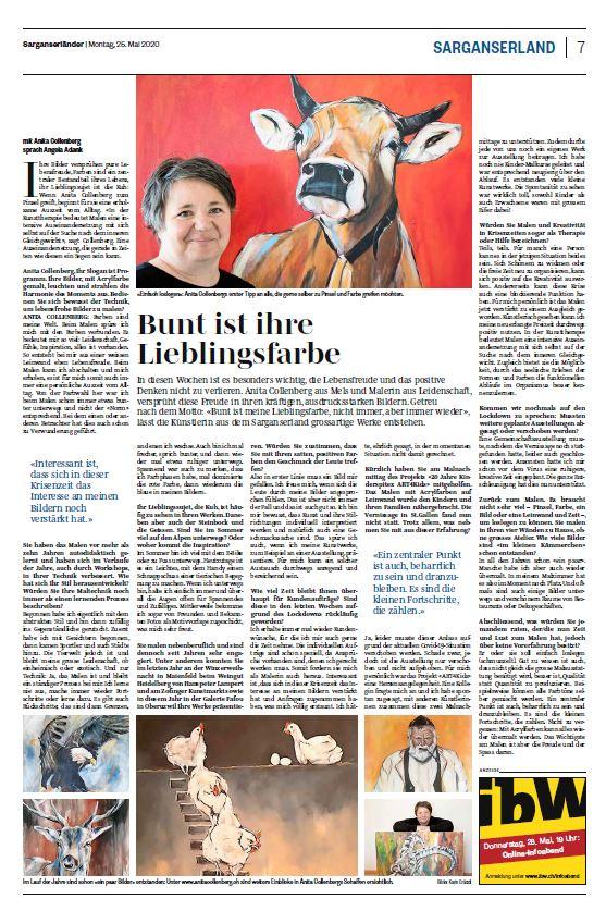 Zeitungsbericht Sarganserländer 25.05.2020