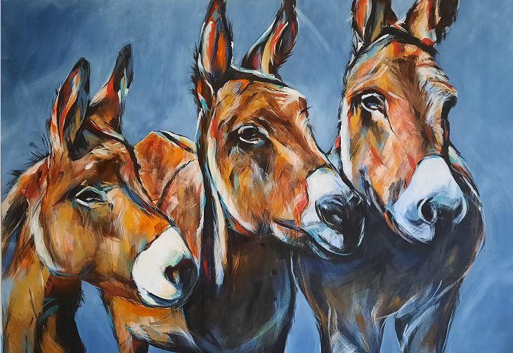 Esel-Trio (Auftragsarbeit)